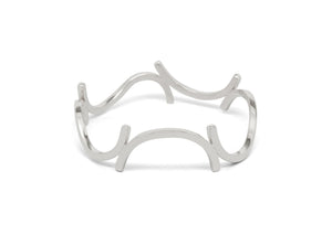 Curved Section Bangle, Sterling Silver
