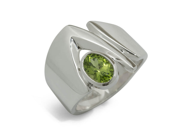 Signature Gemstone Ring, Sterling Silver