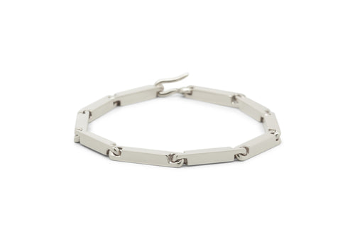 Hand Crafted Block Bracelet, Sterling Silver