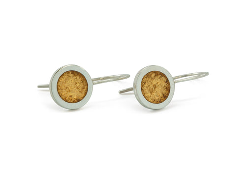 Round Shaped Earrings, Sterling Silver