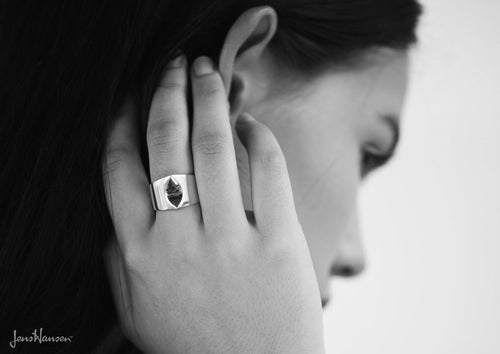 Twin Peak Ring, Sterling Silver