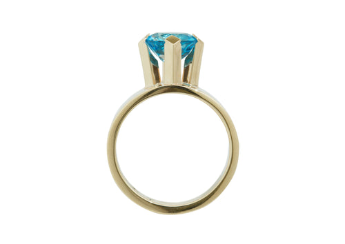 2008 Foundation Release High Claw Set Ring, Yellow Gold