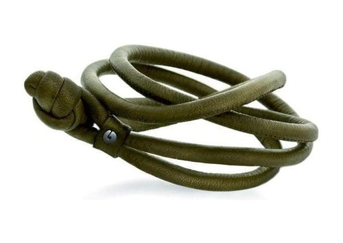 Design bracelet in leather-by-Ole Lynggaard-from official stockist-Jens Hansen