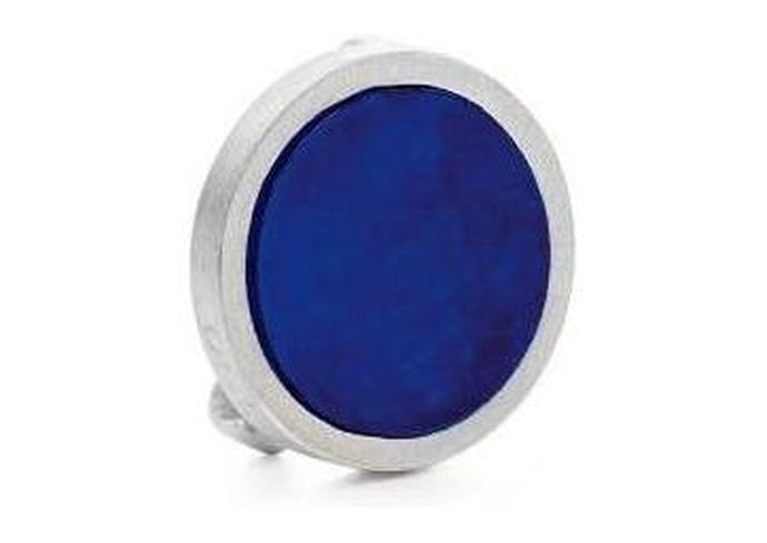Spot On Bracelet Charm in Sterling Silver with lapis