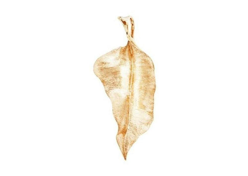 Leaves pendant in 18K yellow gold-by-Ole Lynggaard-from official stockist-Jens Hansen