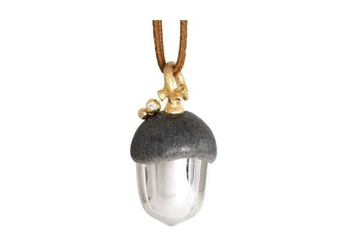Silver Forest pendant in gold and silver-by-Ole Lynggaard-from official stockist-Jens Hansen