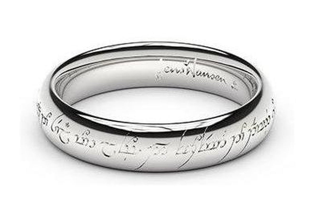 Petite Replica Ring - 4mm wide, 18ct White Gold