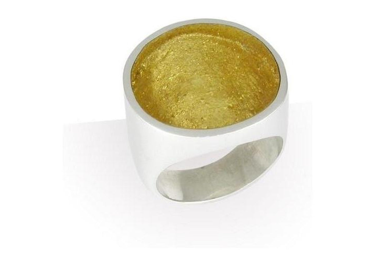 Round Ring with Gold Leaf
