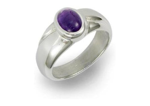 Silver Ring with wave design & Iolite   - Jens Hansen