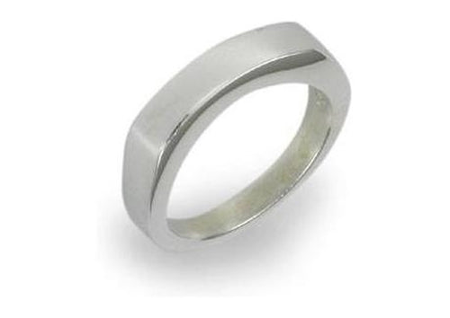 Silver Block Ring with curve   - Jens Hansen