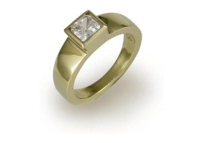 18ct Gold & Diamond Solitaire Ring   - Jens Hansen