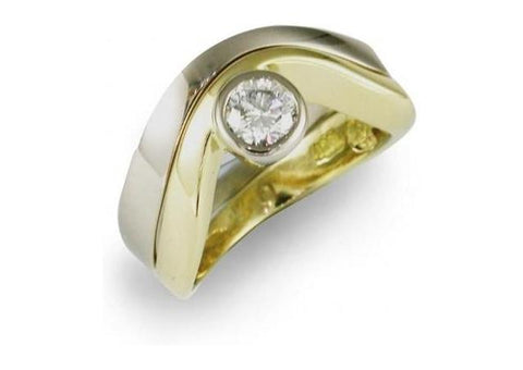18ct Gold Diamond Engagement Ring Design   - Jens Hansen