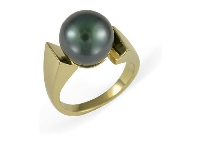 14ct Gold Design with Black Pearl   - Jens Hansen