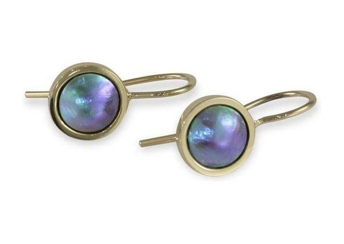 9ct Gold & Paua Pearl Earrings   - Jens Hansen