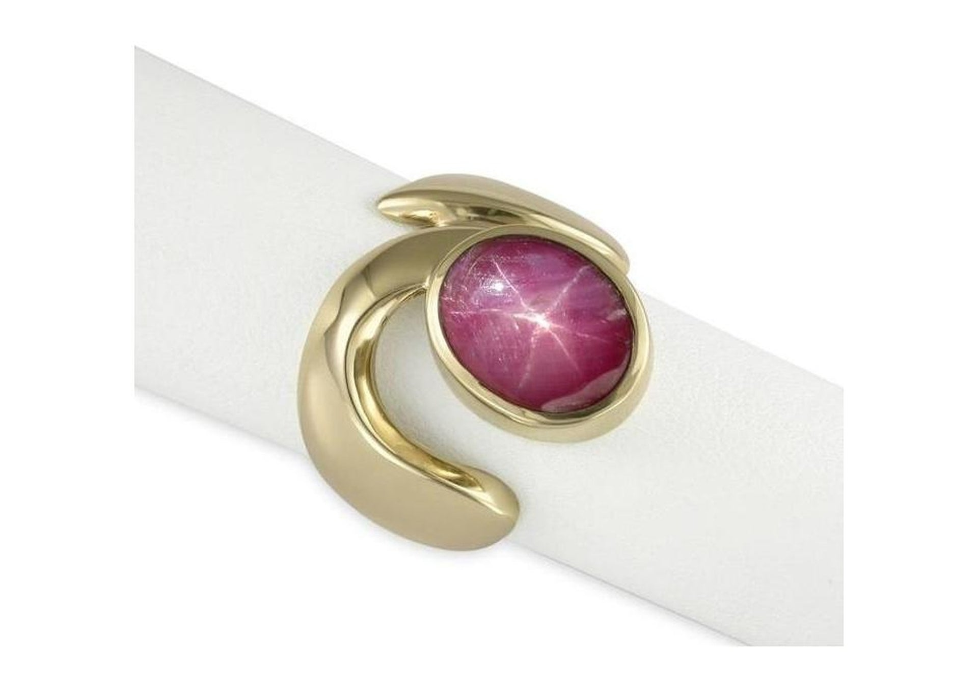 9ct Gold & Simulated Star Ruby   - Jens Hansen