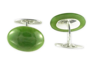 Sterling Silver & Greenstone Cuff links   - Jens Hansen