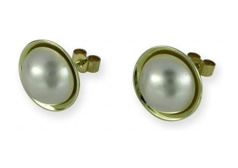 9ct mabe Pearl earrings   - Jens Hansen