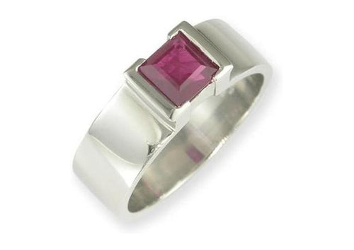 Platinum & Ruby Ring   - Jens Hansen