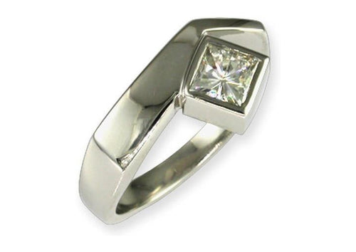 Platinum & Diamond ring   - Jens Hansen
