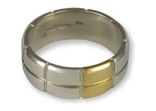 Sterling silver ring customized with 18ct gold   - Jens Hansen