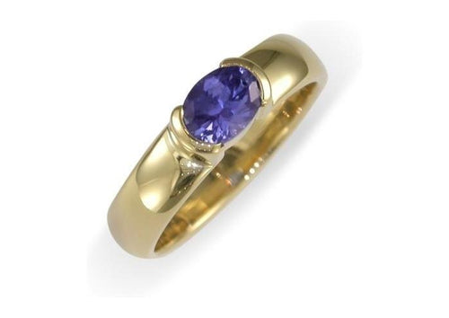9ct yellow gold and Tanzanite Ring   - Jens Hansen