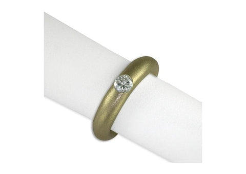 18ct gold and diamond ring with satin finish   - Jens Hansen