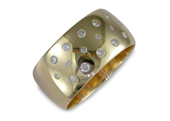 9ct Gold and Diamond Ring   - Jens Hansen