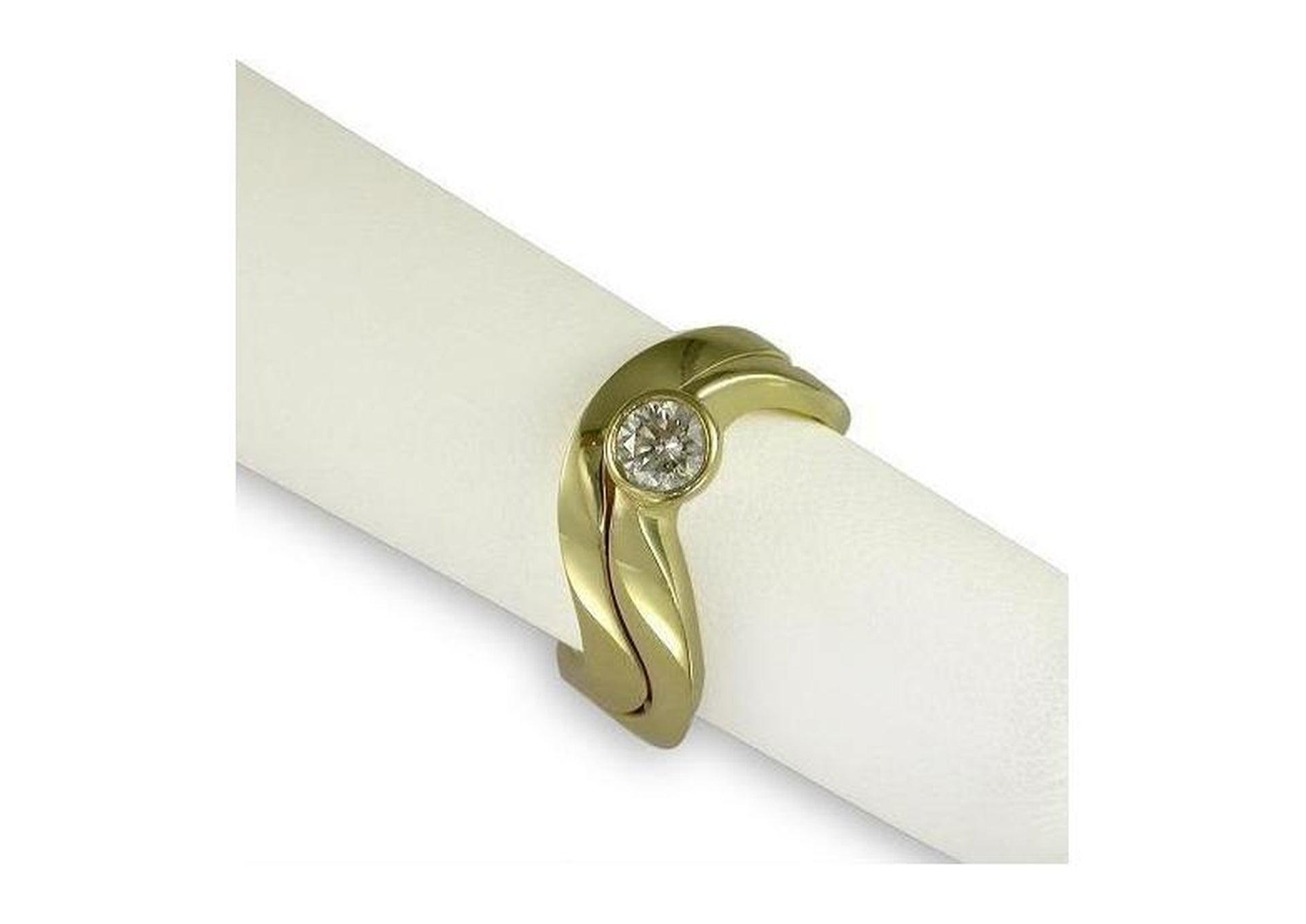 18ct Gold Diamond Ring Set   - Jens Hansen