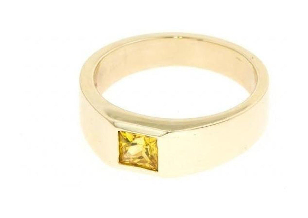 Princess Cut Gemstone Ring, Yellow Gold