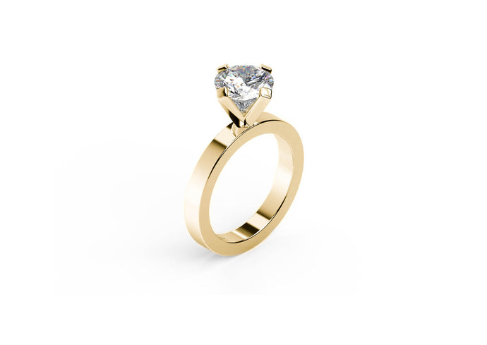The Jens Hansen Solitaire, Yellow Gold