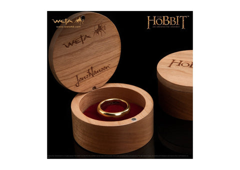 The Hobbit: An Unexpected Journey: The One Ring - Gold Plated Tungsten Carbide (without Elvish runes)   - Jens Hansen - 2