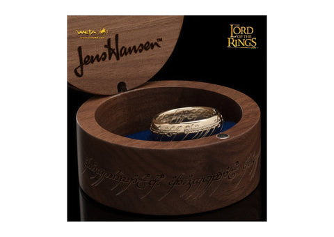 Gollum Ring : The One Ring - 10K Solid Gold (with Elvish Runes)   - Jens Hansen - 3