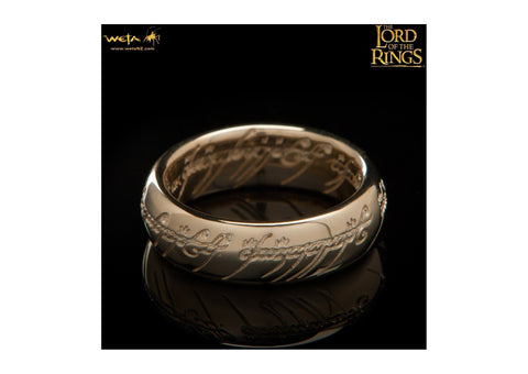 Gollum Ring : The One Ring - 10K Solid Gold (with Elvish Runes)   - Jens Hansen - 4