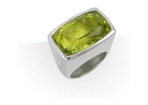 Silver & Lemon Citrine Ring   - Jens Hansen