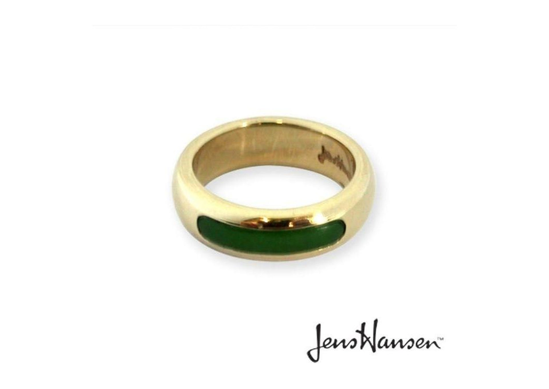9ct band with New Zealand Jade.   - Jens Hansen