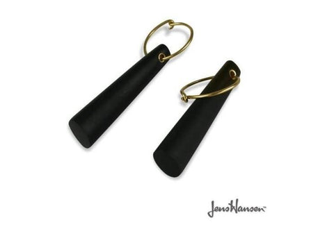 18ct yellow gold and stone earrings   - Jens Hansen
