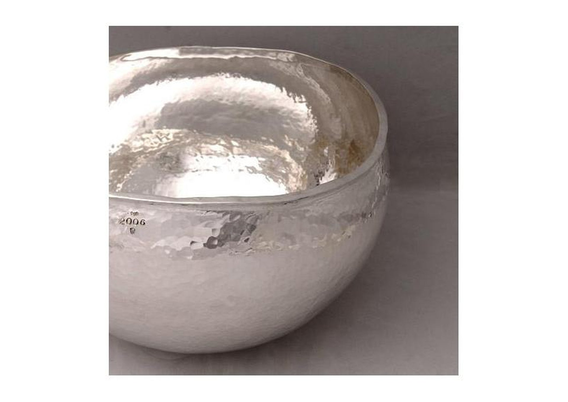 Hand-raised Pure Silver bowl by Thorkild Hansen for Re:Fine 2006 exhibition Wellington, NZ   - Jens Hansen