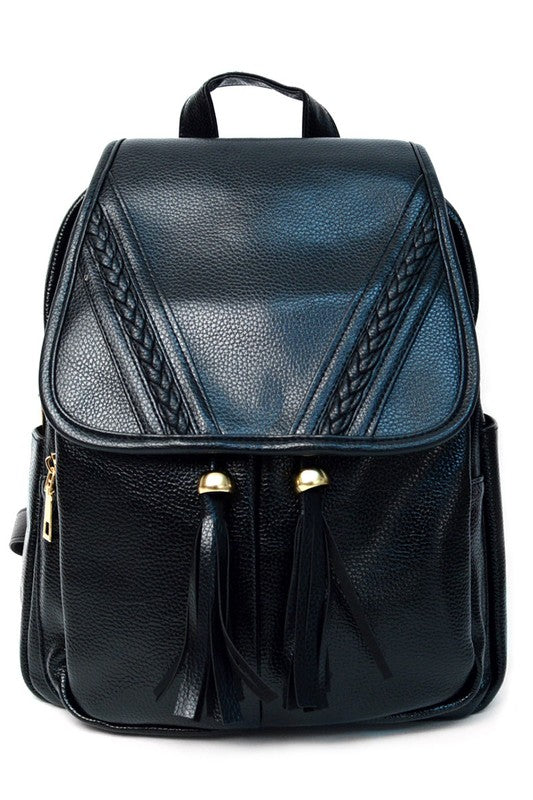 Vinny Black Backpack