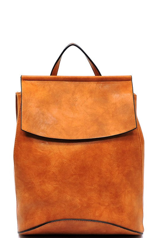 Convertible Backpack (Cognac)