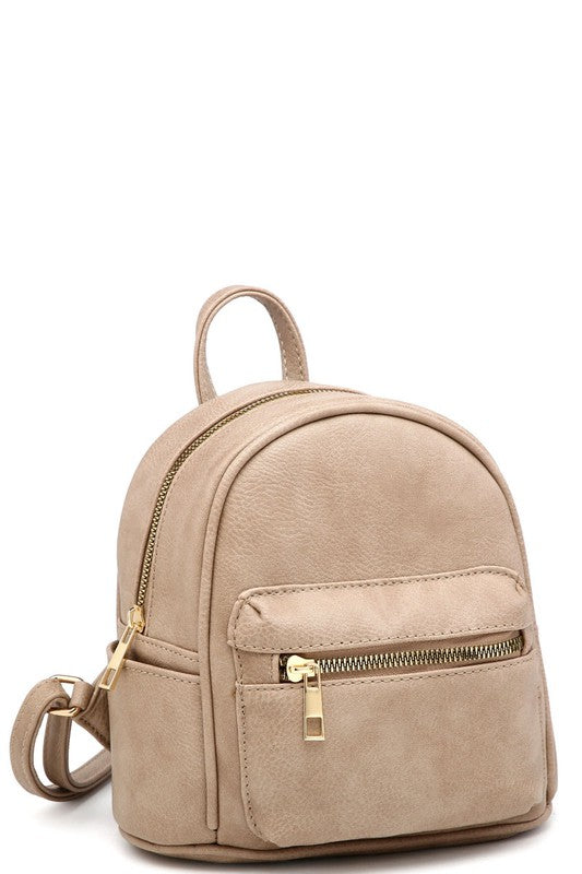 Mini Backpack (Latte)