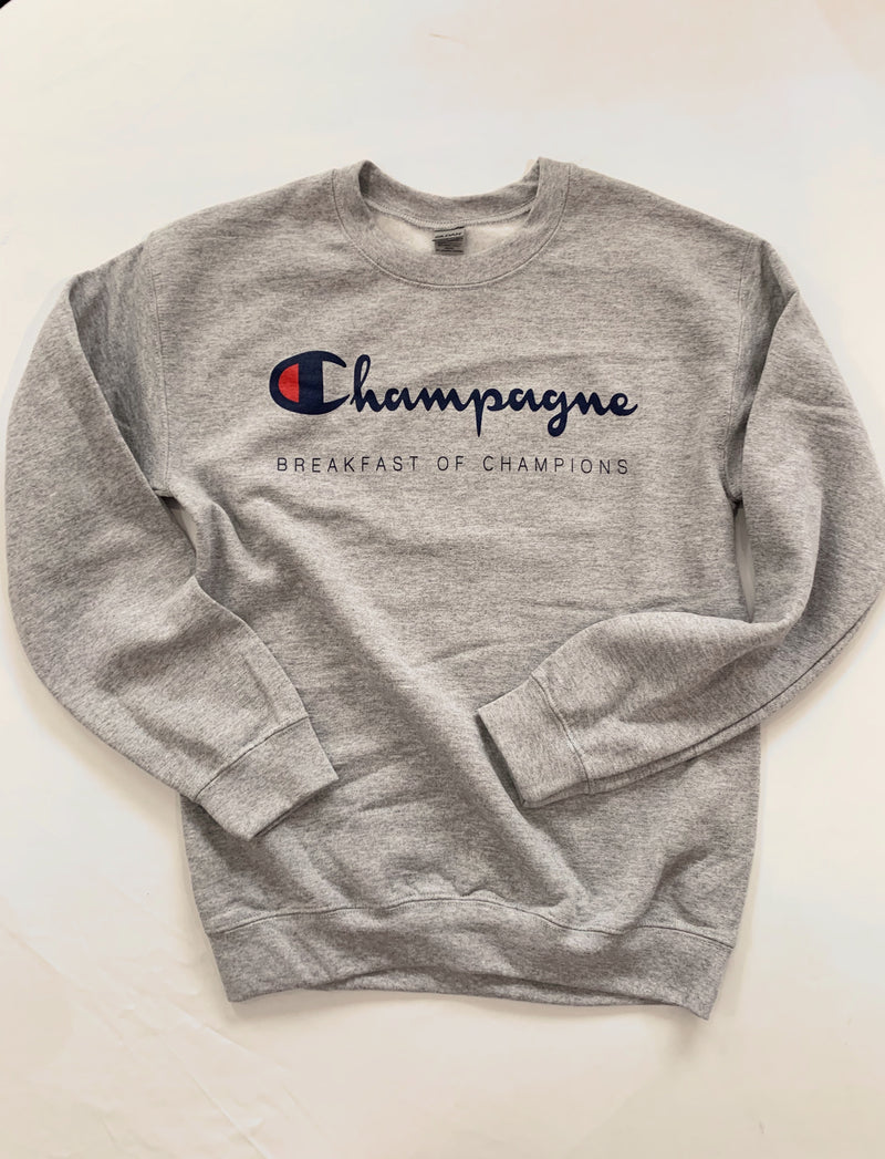 Champagne Sweatshirt (Grey)