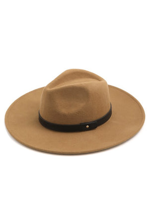Brown Leather Band Hat