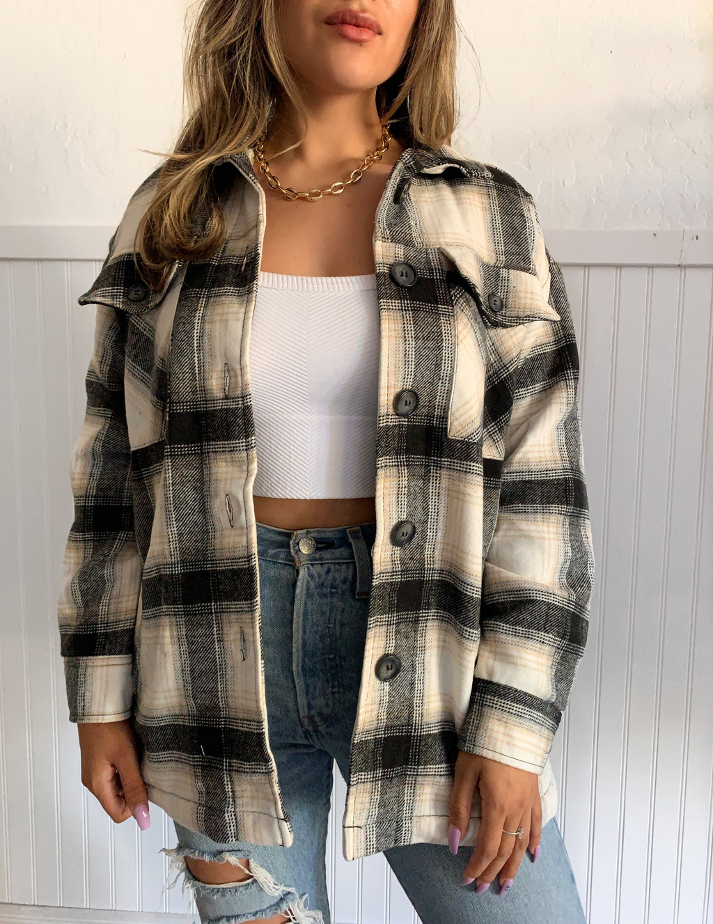 Capri Flannel (Black)