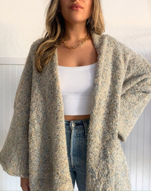 Grey Two Toned Cardigan
