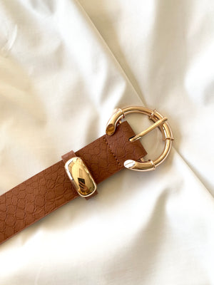 Chic Snake Belt (Brown)