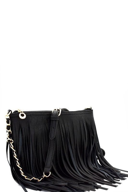 Festive Fringe Bag (Black)