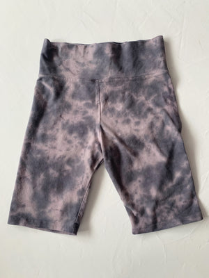 Purple Tie Dye Biker Shorts