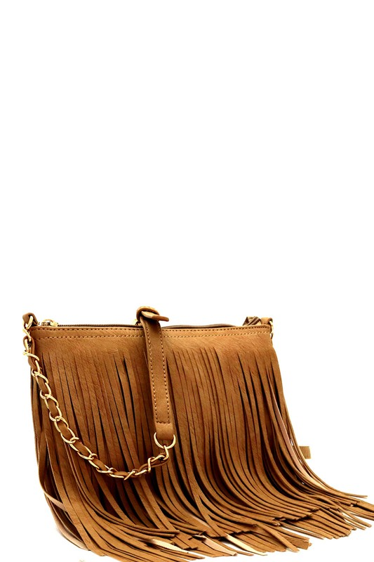 Festive Fringe Bag (Tan)