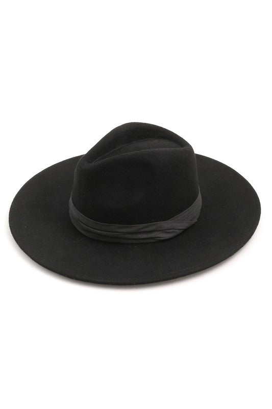 Black Ribbon Band Hat