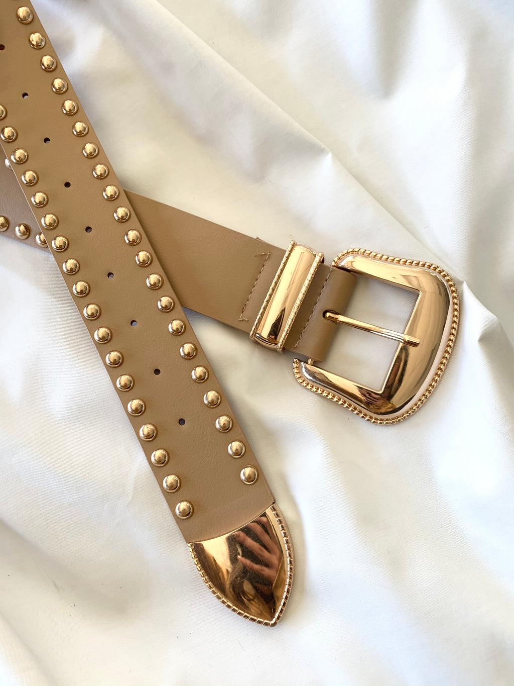 Studded Belt (Beige)